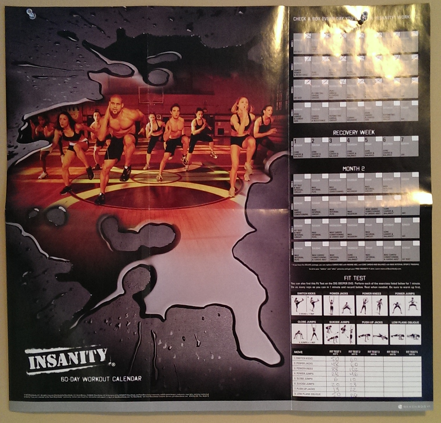 Insanity Workout – Insanity Workout Sheet